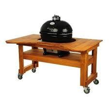 <b>Гриль угольный Oval Large</b> Base, на дубовом столе 775D Primo ...