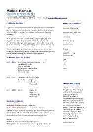 Resume sample grad school