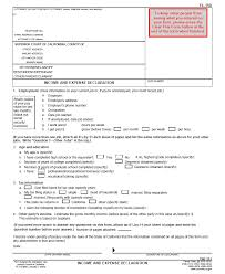 Instructions for INCOME AND EXPENSE DECLARATION