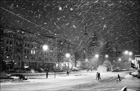Картинки по запросу снег идет в городе клипарт