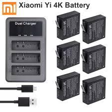 Original Xiao Mi <b>Yi 4K</b> Battery 1400mAh AZ16 1batteries + 3 slot ...