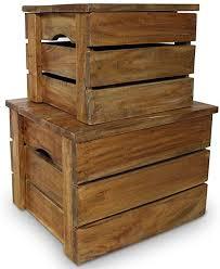 vidaXL <b>Storage Crate Set 2</b> Pieces Solid Reclaimed Wood: Amazon ...