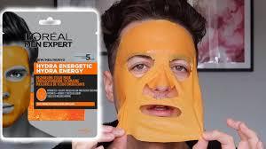 Does It Work?! <b>L'Oreal Men Expert</b> Hydra Energetic Mask - YouTube