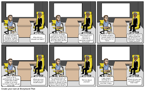 bank teller interview storyboard by s