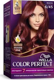 <b>Wella Крем</b>-<b>краска</b> Color Perfect <b>стойкая</b>, 6/45 махагон