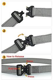 <b>Men's</b> Tactical Belt Heavy Duty Nylon Military Style Webbing ...