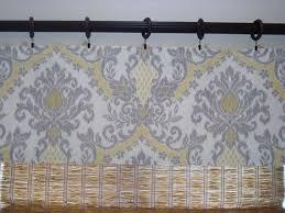 ideas yellow kitchen curtains