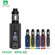 225W Vape Kit <b>ATVS Castle</b> Smart TC Vape 3ml Tank Top Filling ...