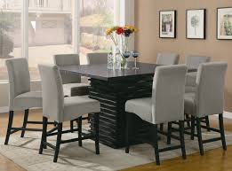 elegant square black mahogany dining table:  dining room large size dining room interior adorable black hardwood square table and furniture idea