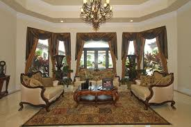 traditional living room with beautiful curtains beautiful brown living room