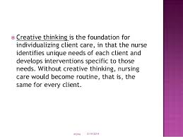 critical thinking skills nursing SlideShare