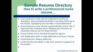 how to write a professional nurse resume mp how to write a professional nurse resume mp4