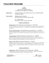 sample resume for teachers laveyla com teacher resume examples preschool resumes formater curriculum