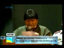 """Resultado de imagen para Bolivia sanciona a Israel por ser un """"Estado terrorista"""""""