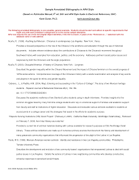 best photos of apa bibliography format example page of an sample apa annotated bibliography example