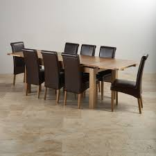 8 Chair Dining Room Set Oak Solid Oak Extending Dining Table And 8 Chairs Art Deco Glass