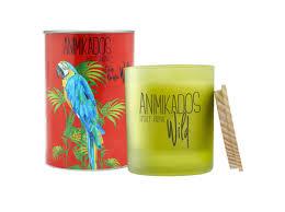 "<b>Свеча ароматическая</b> ""<b>parrot</b>"" (<b>Ambientair</b>) зеленый стекло 9 см ..."