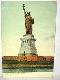 1908 postcard statue of liberty new york cards other statue