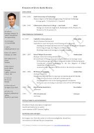 resume template electronics and instrumentation fresher resume resume format for mca student