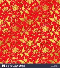 Seamless <b>Golden Chinese</b> Background <b>retro</b> botanic garden flower ...