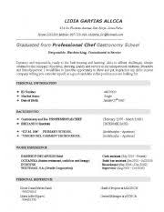 english teaching worksheets  curriculum vitae cvexample of a resume or cv level  advanced  age       downloads