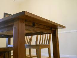 Dining Room Table Plans Ana White Farm House Dining Room Table Modified With Breadboard