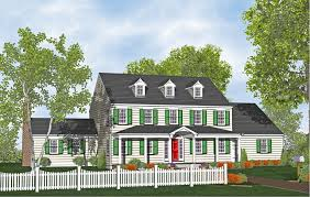 Two Story Colonial Harcourt Home Plans for Sale   Original    Two Story Colonial House Plan