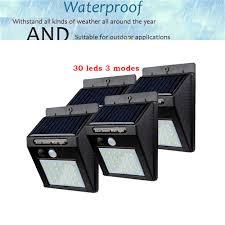 2/4PCS 30 LED <b>Solar Lamp Human Body</b> Induction Wall Light 3 ...