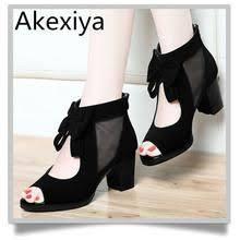 <b>Women's</b> Thick Heel Open Toe Beaded Lace Cutout Sandals ...