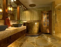 stone tile bathroom modern built