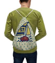 """Рюкзак-мешок с полной запечаткой """"<b>Кораблик</b>"""" #2284908 от ..."""