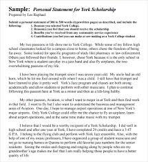 Writing a Personal Statement for Scholarship and Fellowships