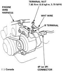 honda alternator wiring questions answers pictures fixya how to change a alternator on 98 honda accord v6