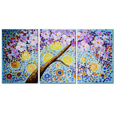 YISHIYUAN <b>3 Pcs</b> HD Inkjet Paints Multicolor Rich Tree Decorative ...