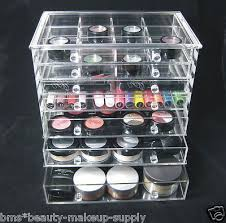 plastic makeup organizer put bathroom: clear acrylic  drawer counter top cosmetic organizer jewelry storage box