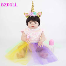 <b>55cm</b> Full Silicone Body Reborn Baby <b>Blonde Girls</b> Doll Toy Vinyl ...