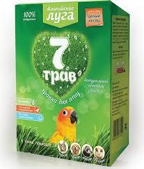 Купить <b>лакомство альпийские луга</b> 7 трав для птиц травка 60г ...