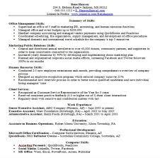 resume example good resume summary examples resume  seangarrette coresume example good