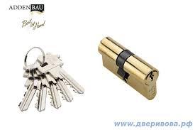 <b>Ключевой цилиндр Adden</b> Bau, 5 кл., английский ключ, 60мм РВ ...