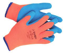 Перчатки <b>утепленные</b>, акриловые, с рельефным латексным ...