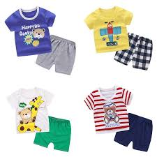 Summer children clothing sets <b>cute</b> cartoon casual top+pants <b>2Pcs</b> ...