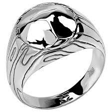 Эстет <b>Кольцо коллекции Totem</b> Wolf/Волк из серебра 01К058389 ...