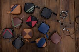 Leather <b>Earphone Cases for</b> Headphone Zone | The Black Canvas