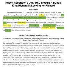 hsc module a king richard iiilooking for richard  hsc module a king richard iiilooking for richard  essay bundle