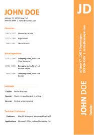 best free microsoft word resume templatesmodern orange color resume template
