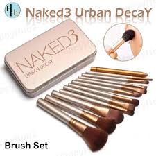 Naked 12 <b>Pcs Professional</b> 3 Power <b>Makeup</b> Brushes Set | Shopee ...