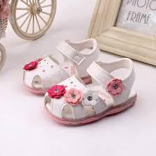 Twice-  Toddler New Flowers Girls Sandals Lighted <b>Soft</b>-<b>Soled</b> ...