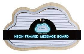 Brilliant Ideas <b>Cloud Shaped Neon</b> LED Message Board | Walmart ...