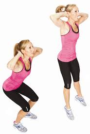 Image result for woman jump squats squats workout
