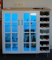 stylish white liquor cabinet ikea made of wood with led for home bar room furniture ideas bar room furniture home
